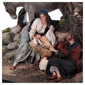 Reposo de José en la Fuga de Egipto 25 cm Angela Tripi s4