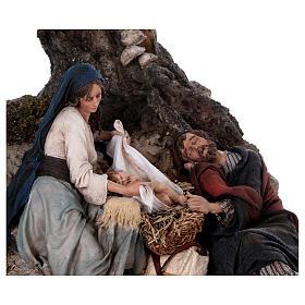 Reposo de José en la Fuga de Egipto 25 cm Angela Tripi s6