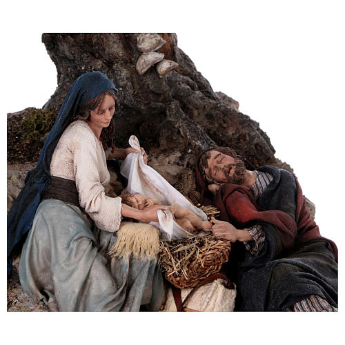 Reposo de José en la Fuga de Egipto 25 cm Angela Tripi 6
