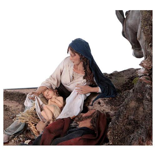 Reposo de José en la Fuga de Egipto 25 cm Angela Tripi 8