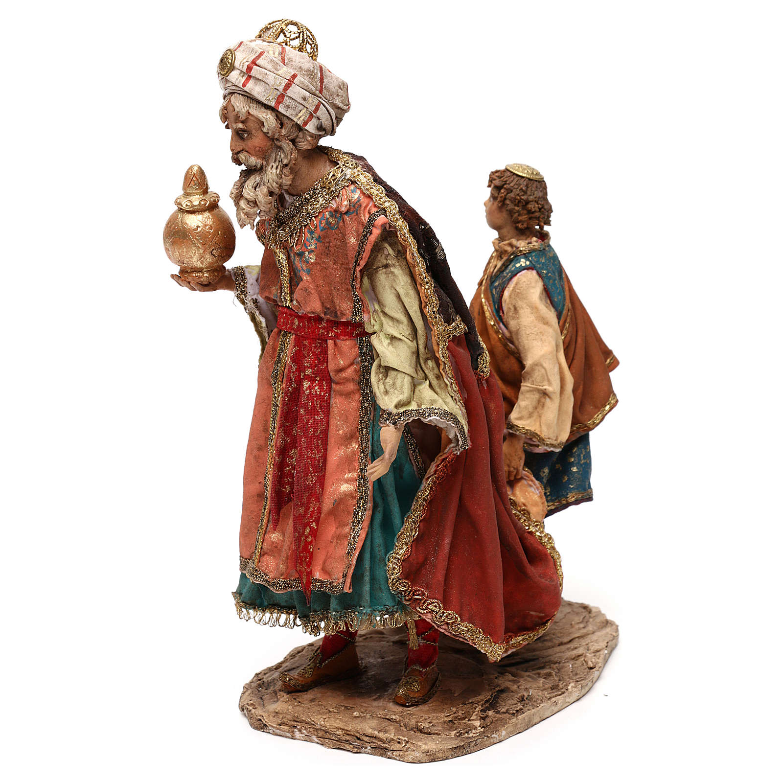 King with page for 18 cm Nativity scene, Angela Tripi 4