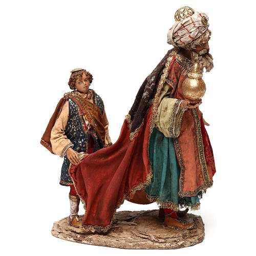 King with page for 18 cm Nativity scene, Angela Tripi 1