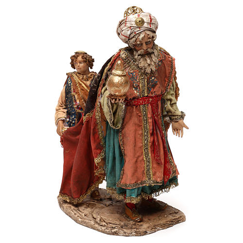 King with page for 18 cm Nativity scene, Angela Tripi 3