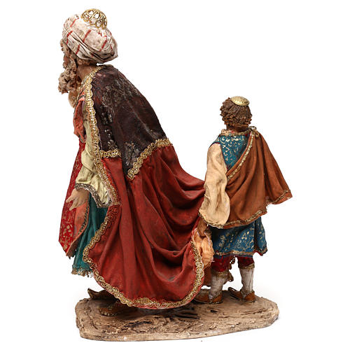 King with page for 18 cm Nativity scene, Angela Tripi 6