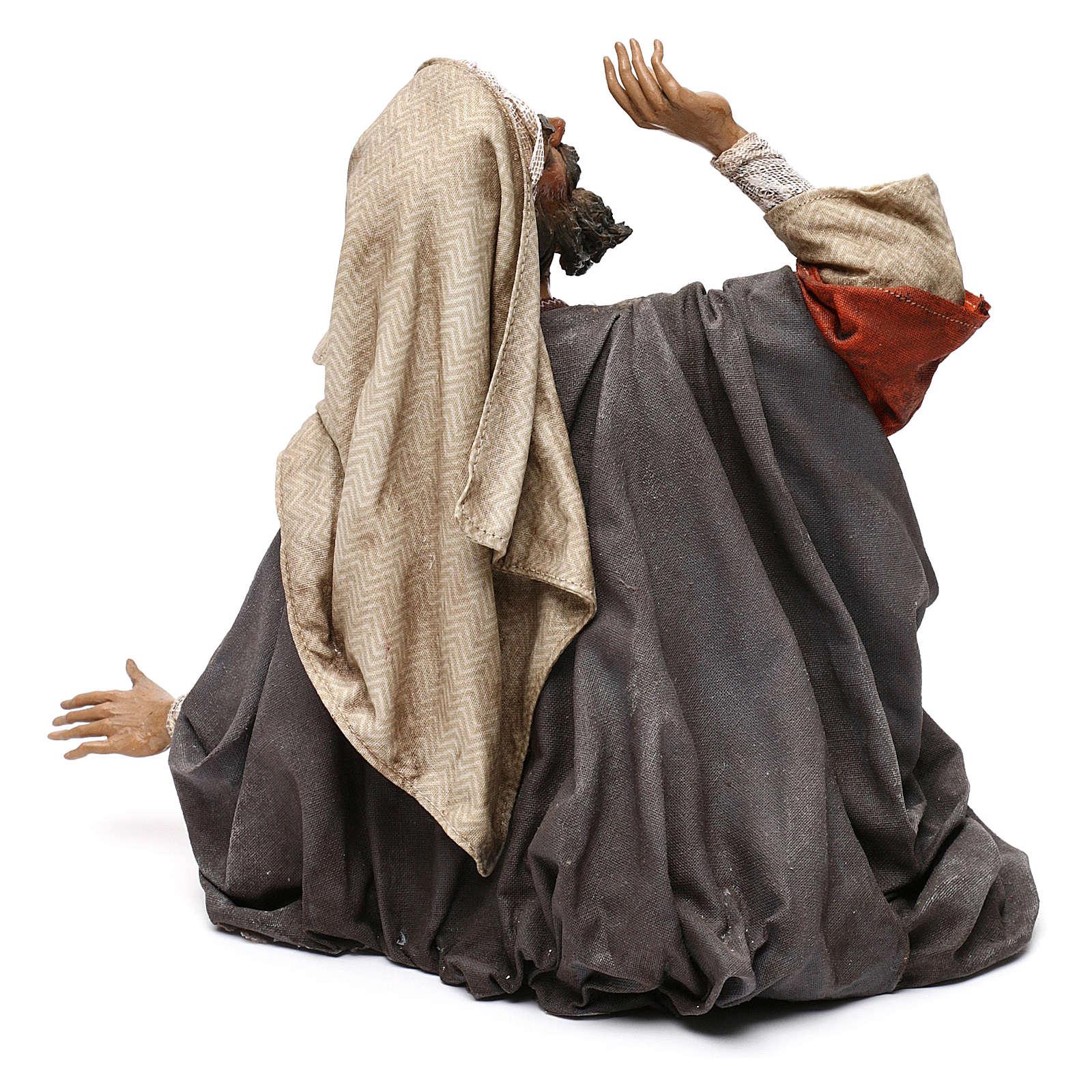 Pastore impaurito - annuncio ai pastori 30 cm Angela Tripi 4