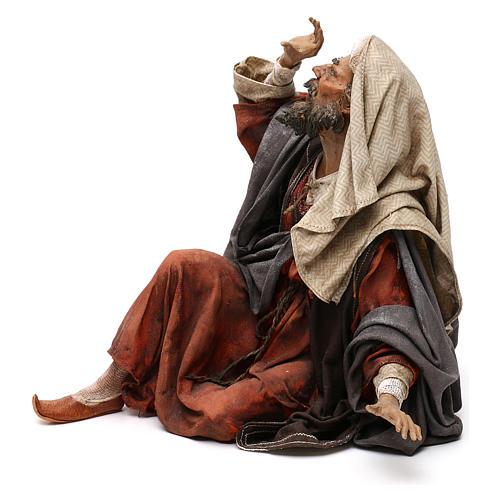Pastore impaurito - annuncio ai pastori 30 cm Angela Tripi 3