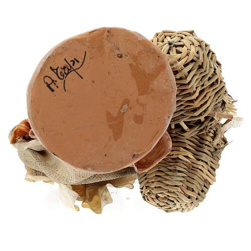 Bergère avec paniers 18 cm atelier Angela Tripi 6