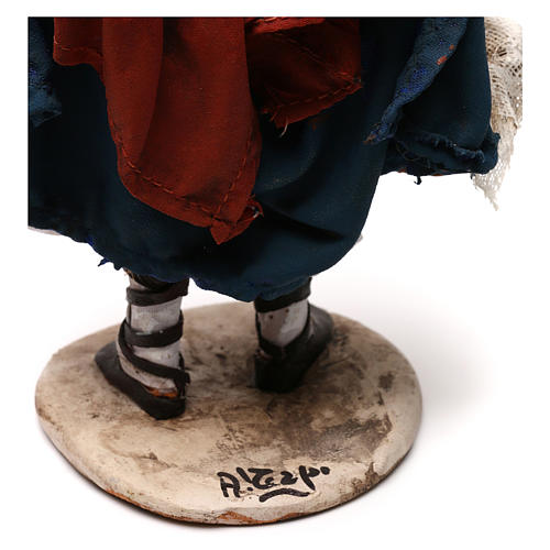 Pastorella con ceste 18 cm Presepe Angela Tripi 6