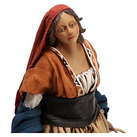 Shepherdess with baskets, 18 cm Nativity Angela Tripi s2