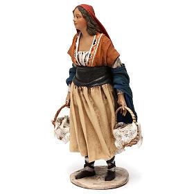 Shepherdess with baskets, 18 cm Nativity Angela Tripi s3