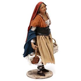 Shepherdess with baskets, 18 cm Nativity Angela Tripi s4