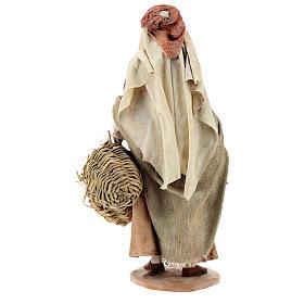 Shepherdess with baskets, 18 cm Nativity Angela Tripi s5