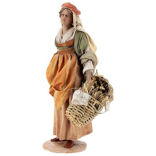 Shepherdess with baskets, 18 cm Nativity Angela Tripi 3