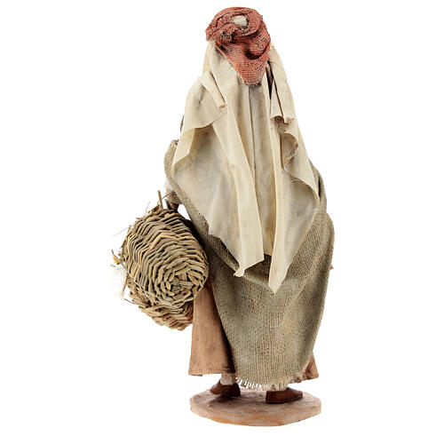Shepherdess with baskets, 18 cm Nativity Angela Tripi 5