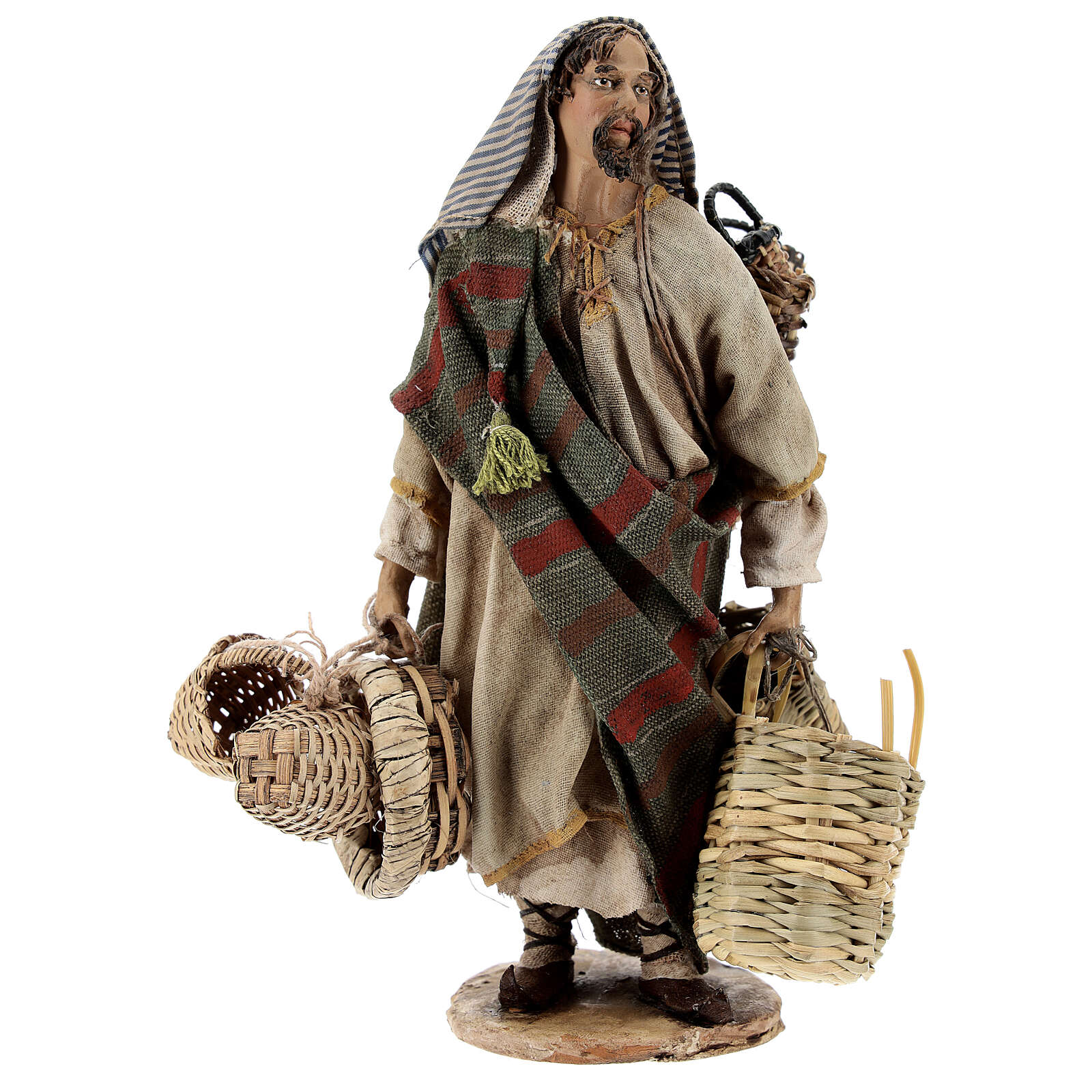 Basket maker 18 cm nativity, Angela Tripi 4