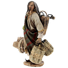 Basket maker 18 cm nativity, Angela Tripi s3