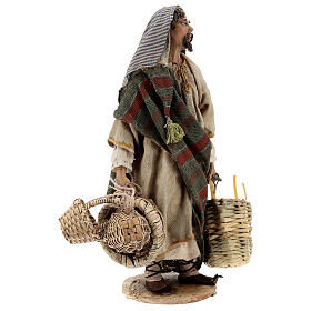 Basket maker 18 cm nativity, Angela Tripi s4