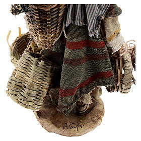 Basket maker 18 cm nativity, Angela Tripi s6