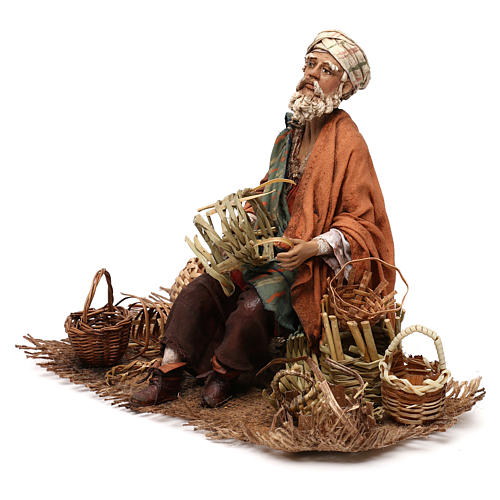 Basket maker 18 cm nativity, Angela Tripi 3