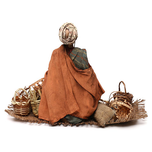 Basket maker 18 cm nativity, Angela Tripi 5