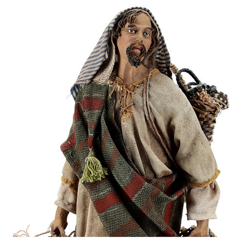 Basket maker 18 cm nativity, Angela Tripi 2