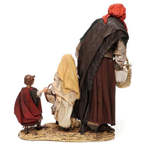 Elderly woman with 3 children 30 cm Angela Tripi Nativity Scene 6