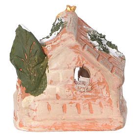 Cabaña de terracota coloreada de Deruta para belenes de 3 cm s4
