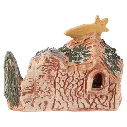 Presepe 10x15x5 cm in terracotta dipinta Deruta con natività 4 cm 4