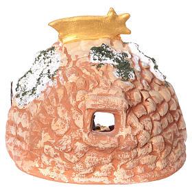 Grotta in terracotta Deruta dipinta con natività 4 cm 10x10x10 cm s4
