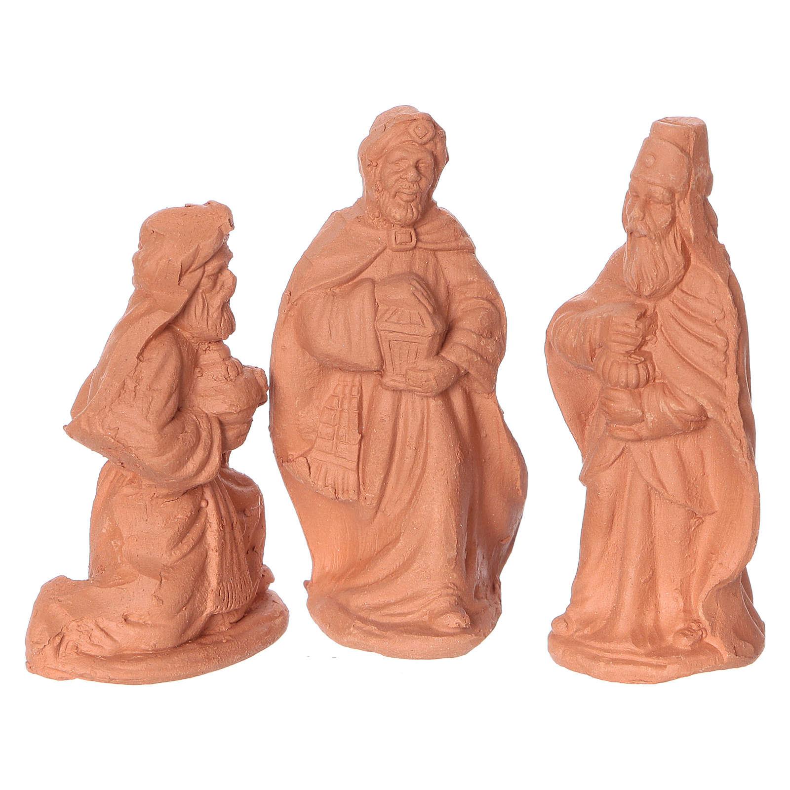 Nativity 6 cm in Deruta terracotta 11 pieces 4