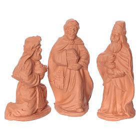 Nativity 6 cm in Deruta terracotta 11 pieces s3