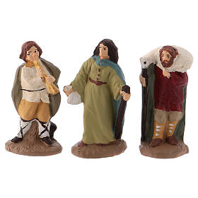 Complete Nativity set 6 cm, in painted Deruta terracotta 11 pcs s4