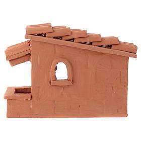 Tosatore pecorelle terracotta Deruta dipinta presepe 10 cm s4