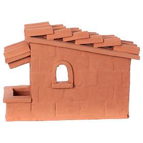 Tosatore pecorelle terracotta Deruta dipinta presepe 10 cm s8