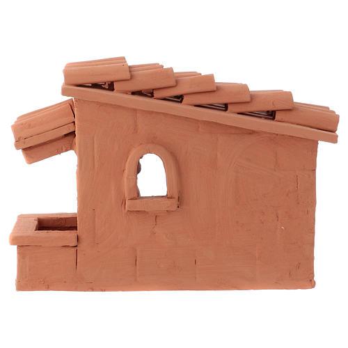 Tosatore pecorelle terracotta Deruta dipinta presepe 10 cm 4
