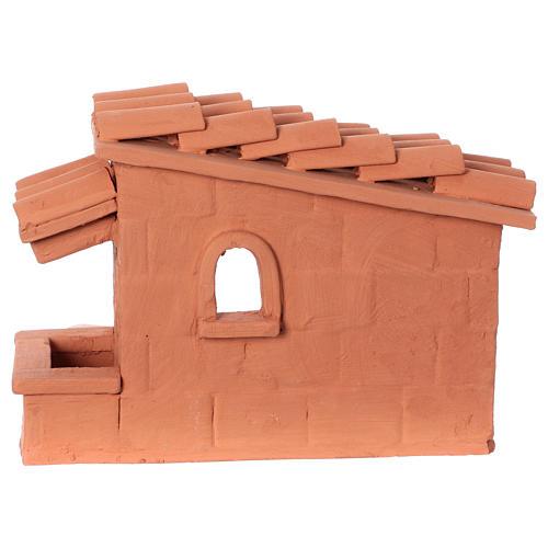 Tosatore pecorelle terracotta Deruta dipinta presepe 10 cm 8