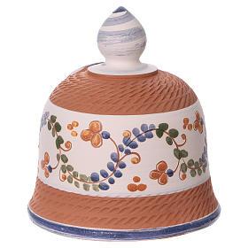 Capanna in terracotta colorata con presepe 6 cm Deruta s4