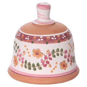 Pink terracotta hut with Nativity scene 3 cm made in Deruta s4