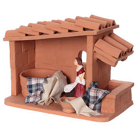Laundress in terracotta for Nativity scene 10 cm made in Deruta s3