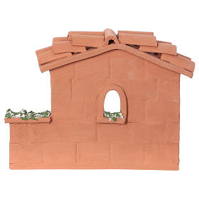 Terracotta woman at the well for Nativity scene 10 cm made in Deruta s4