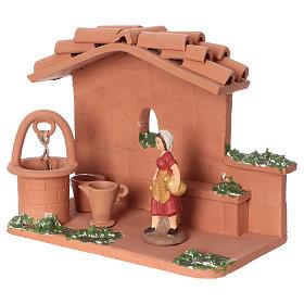 Donna al pozzo in terracotta presepe 10 cm Deruta s3