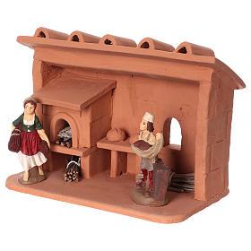 Terracotta baker for Nativity scene 10 cm made in Deruta s3