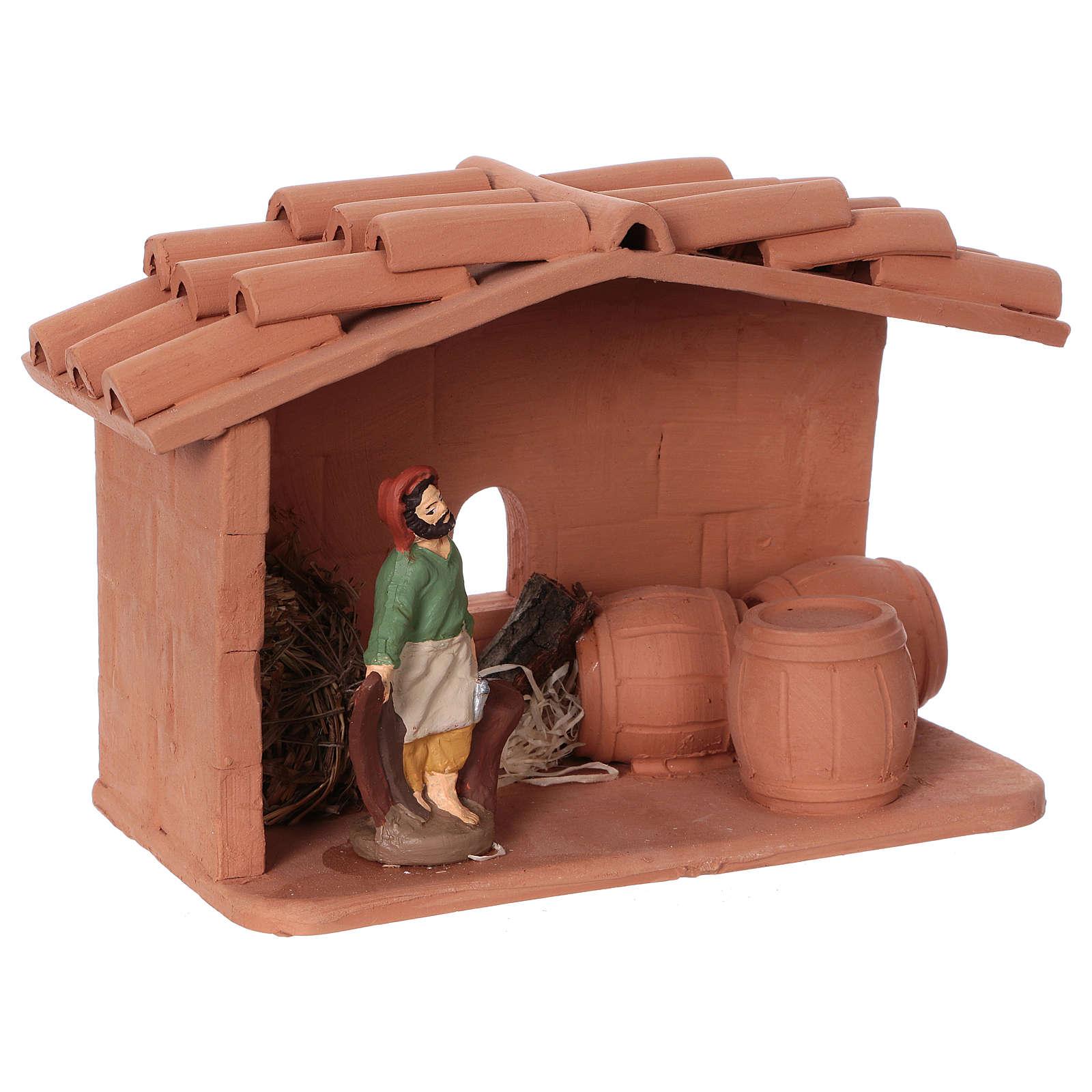 Terracotta cooper for Nativity scene 10 cm made in Deruta 4