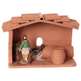 Terracotta cooper for Nativity scene 10 cm made in Deruta s1