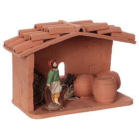 Terracotta cooper for Nativity scene 10 cm made in Deruta s2