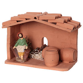 Terracotta cooper for Nativity scene 10 cm made in Deruta s3
