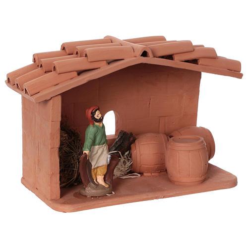 Terracotta cooper for Nativity scene 10 cm made in Deruta 2