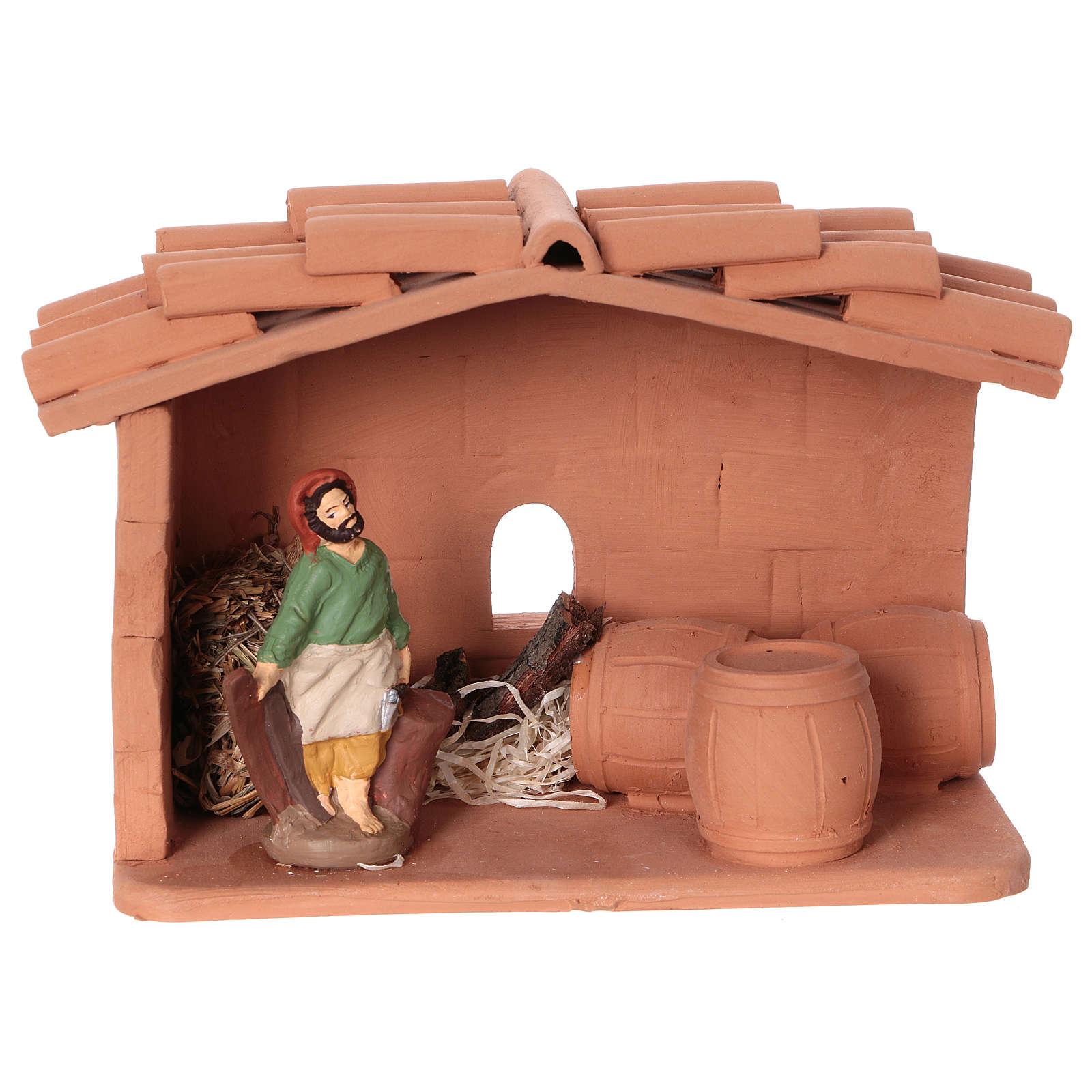 Cooper in terracotta, 10 cm nativity Deruta 4