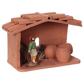 Cooper in terracotta, 10 cm nativity Deruta s2