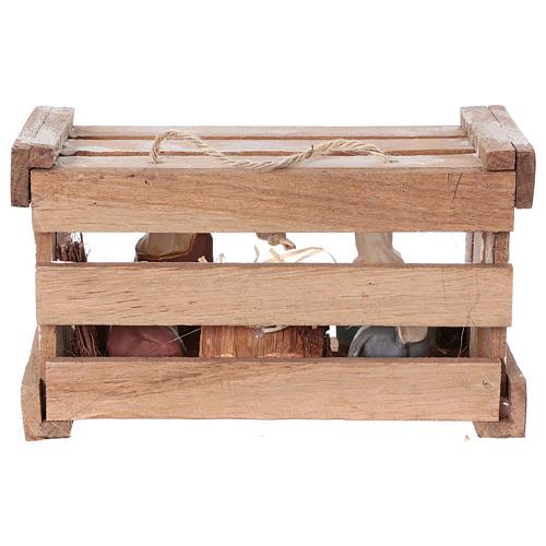 Cassetta portatile in legno con Natività presepe 8 cm Deruta 5